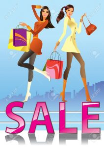 12480867-Fashion-girls-in-sale-campaign-illustration-Stock-Vector