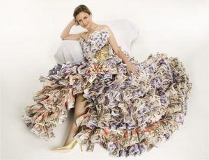 vestido dinheiro