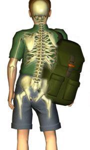 mochila postura do lado