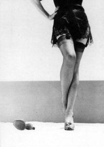 Marlene Dietrich lingerie legs