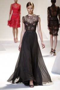 Quality-assurance-focus-dress-distinctively-Elegant-Aestheticism-top-grade-women-s-silk-dresses-catwalk-black-long