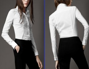 White-Cotton-Shirt-with-Button-Down-by-Burberry-as-Women-Wardrobe-Collection
