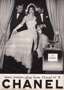 chanel 5 perfume ad vintage