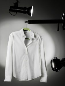 A white Theory blouse that retails for $185.00 photographed in the Plain Dealer studio January 24, 2008.  (John Kuntz / The Plain Dealer)