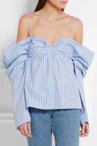 j-w-anderson-off-the-shoulder-striped-cotton-poplin-top